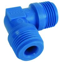 Tefen Nylon Blue Equal Elbow Male BSPT 3/8""