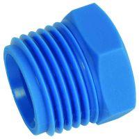 "Tefen Nylon Blue Male Blanking Plug Male BSPT 1/4"""