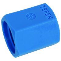 "Tefen Nylon Blue Equal Female Socket BSPT 1/4"""