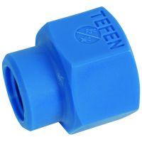 "Tefen Nylon Blue Reducing Socket Female BSPT 3/8"" x 1/4"""