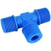 Tefen Nylon Blue Equal Tee Male BSPT 1/4""