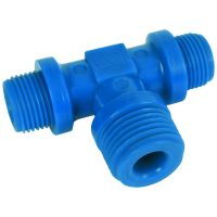 "Tefen Nylon Blue Reducing Branch Tee BSPT 3/8"" x 1/2"""