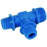 "Tefen Nylon Blue Reducing Branch Tee BSPT 1/4"" x 3/8"""