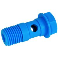 Tefen Polypropylene Blue 1 Body Type Banjo Bolt 16mm x 1/4""