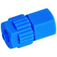 Tefen Polypropylene Blue Female Connector 6mm x 1/4""