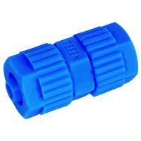 Tefen Polypropylene Blue Equal Connector 6mm