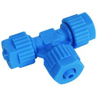 Tefen Polypropylene Blue Union Tee 6mm