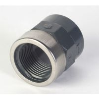 "Astore PVC Socket Plain/ BSP with Metal Ring 16mm x 3/8"""
