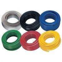 "Yellow PVC Braided Hose 30 Metre 1/4"""