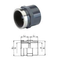 """TP PVC-U Adaptor Plain/ Threaded 16mm x 3/8"""""""