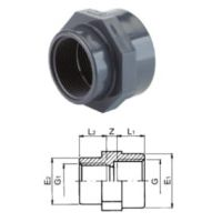 "TP PVC-U Reducing Socket Threaded Rp 1"" x 3/4"""