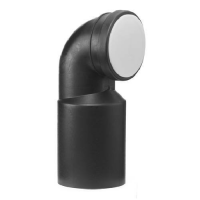 Marley HDPE 90 Deg Vert. Wall-Lavatory Bend 110 x 110mm