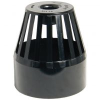 FloPlast Black PVC-U SP302 Vent Terminal 110mm