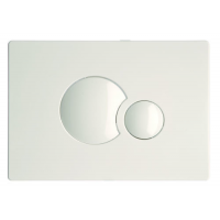 Multikwik White Eclipse Dual Flush Plate