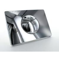 Multikwik Chrome Crescent Dual Flush Plate