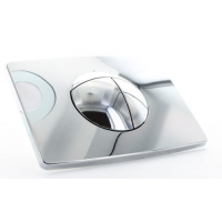 Multikwik Chrome Solar Dual Flush Plate