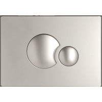 Multikwik Satin Chrome Eclipse Dual Flush Plate