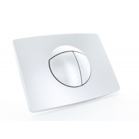 Multikwik Satin Chrome Solar Dual Flush Plate
