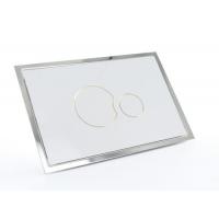 Multikwik White Eclipse Dual Flush Plate - Recessed