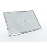Multikwik White Eclipse Dual Flush Plate - Glass