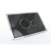 Multikwik Black Eclipse Dual Flush Plate - Glass