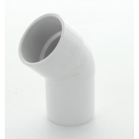 Marley White Waste ABS Double Socket Spigot Bend 45 Deg 32mm