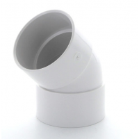 Marley White Waste ABS Double Socket Bend 45 Deg 40mm