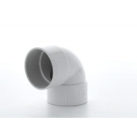 Marley White Waste ABS Double Socket Bend 90 Deg 40mm