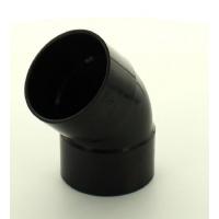 Marley Black Waste ABS Double Socket Bend 45 Deg 50mm