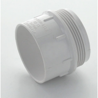 Marley White Waste ABS Iron Adaptor Male 50mm