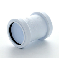 Marley White Waste PP St Coupling 40mm