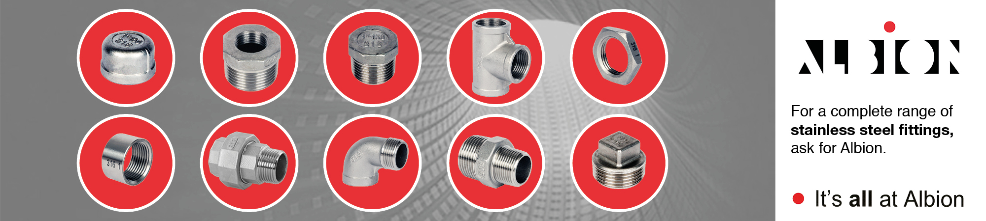 Albion Stainless Steel Fittings