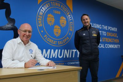 PIPEKIT UNDERLINES LOCAL COMMITMENT AS IT MARKS THIRD YEAR WITH SHREWSBURY TOWN IN THE COMMUNITY